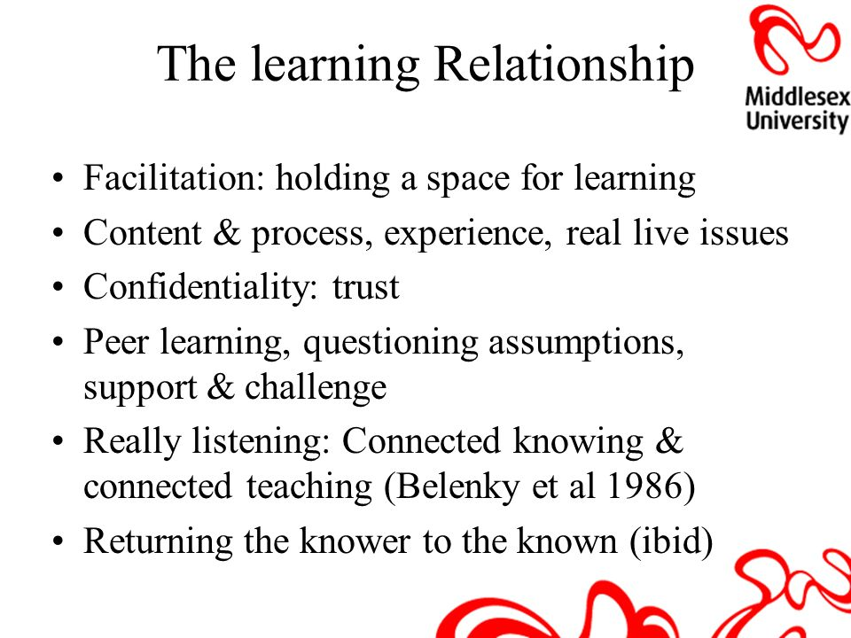 The learning Relationship