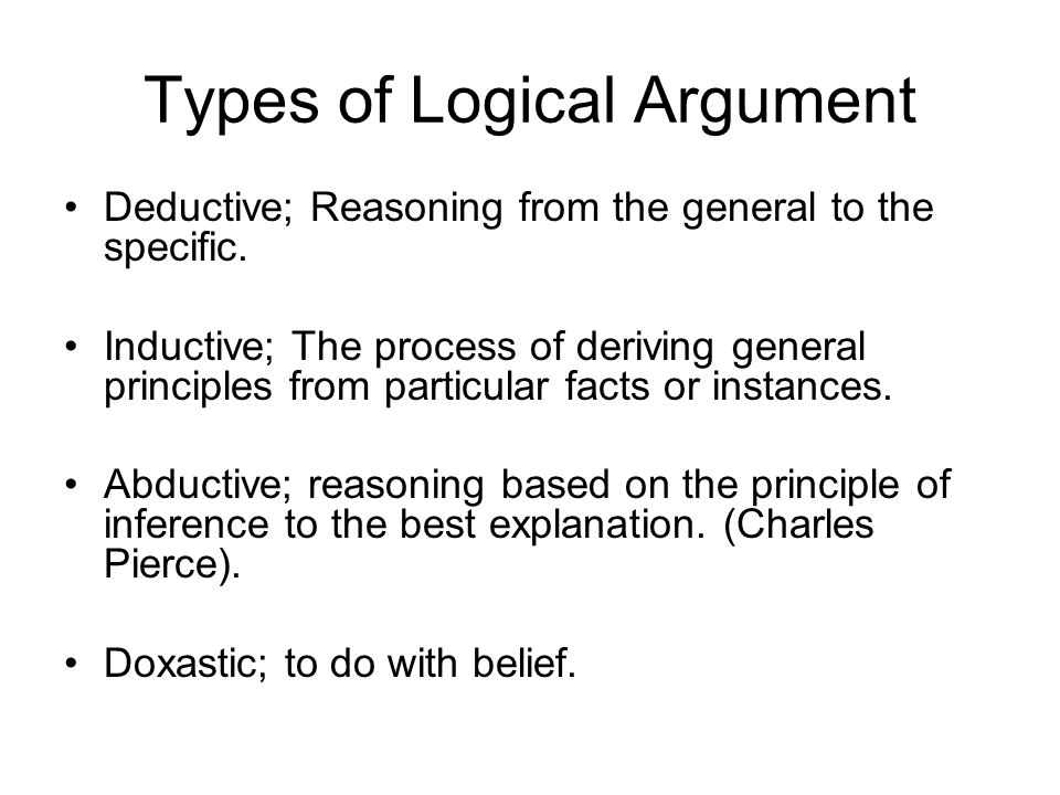 Types of Logical Argument