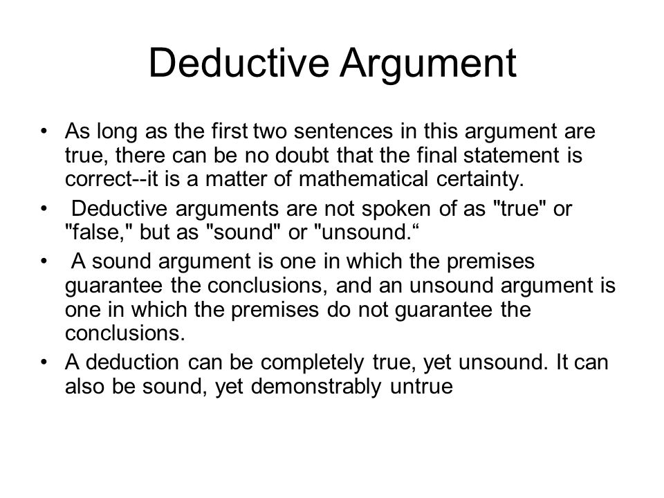 Deductive Argument