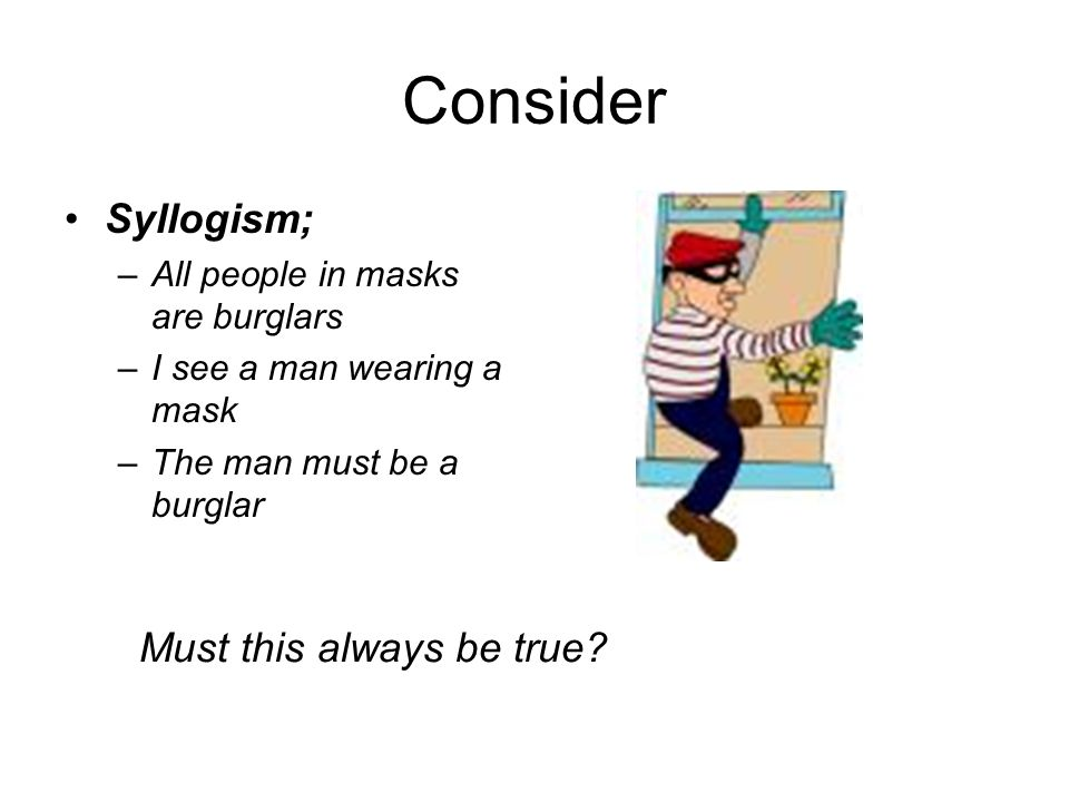 Consider Syllogism; Must this always be true
