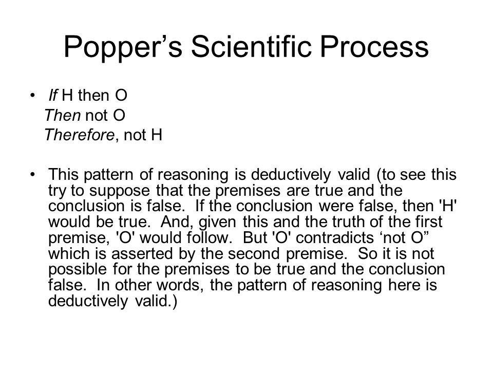 Popper's Scientific Process