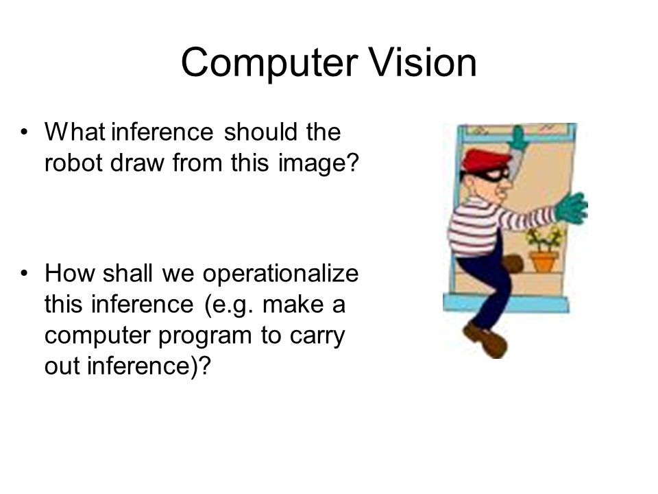 Computer Vision What inference should the robot draw from this image