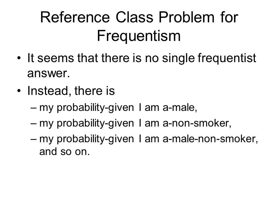 Reference Class Problem for Frequentism