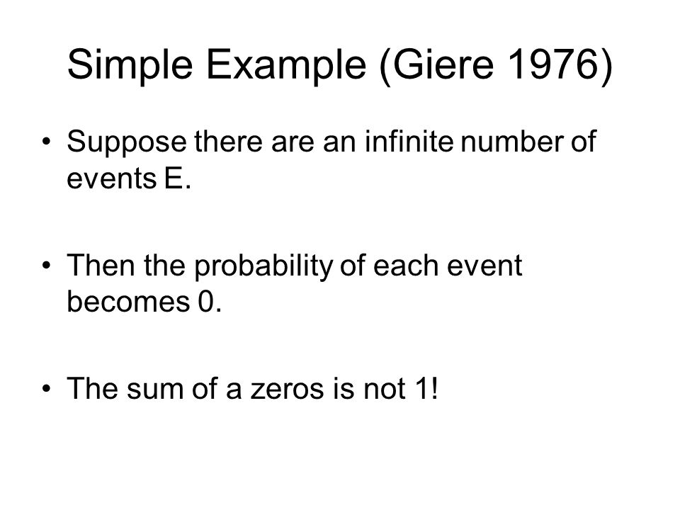 Simple Example (Giere 1976)