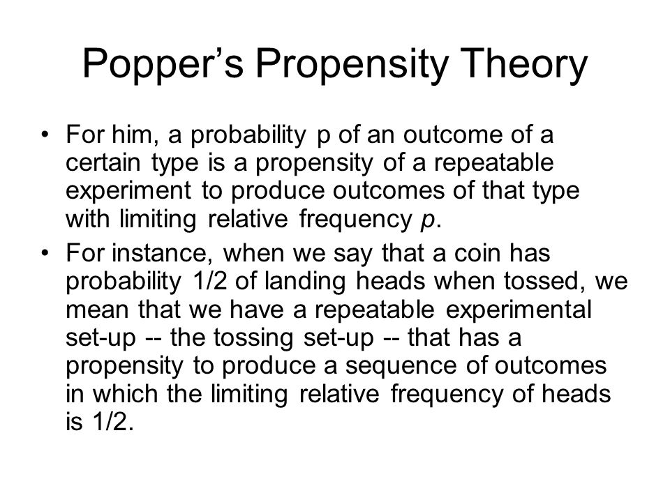 Popper's Propensity Theory