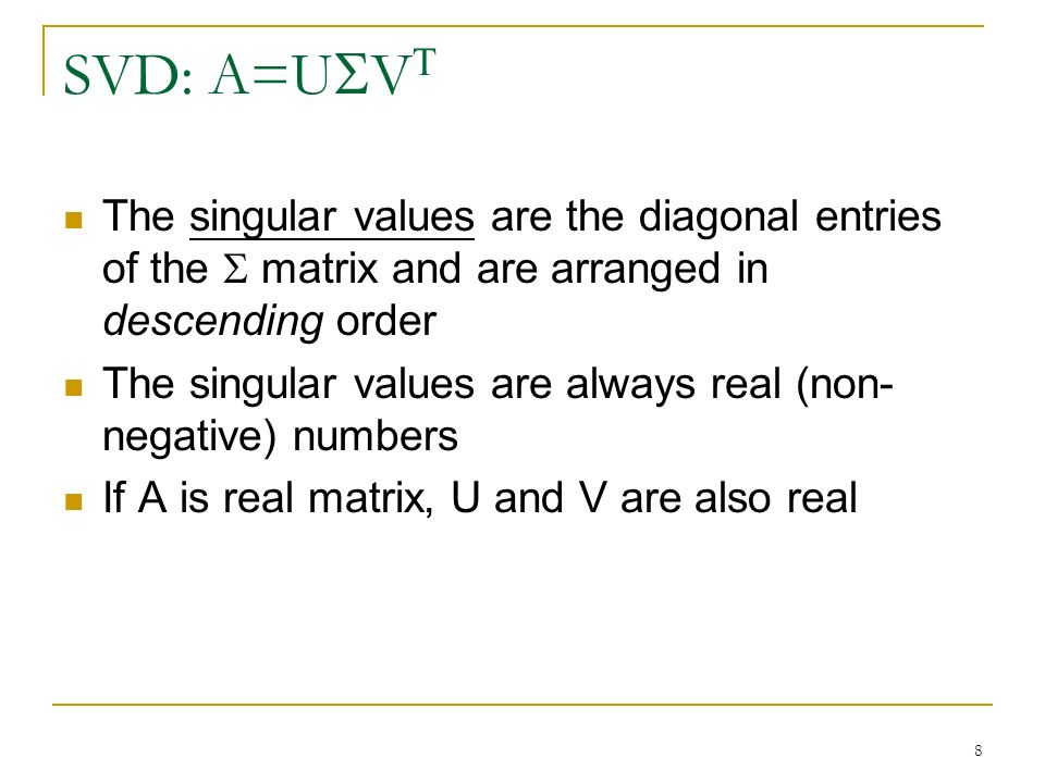 how to find singular values of a matrix