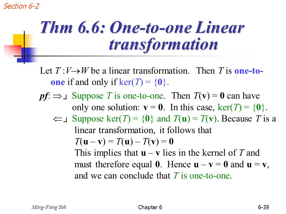 how to find kernel of linear transformation