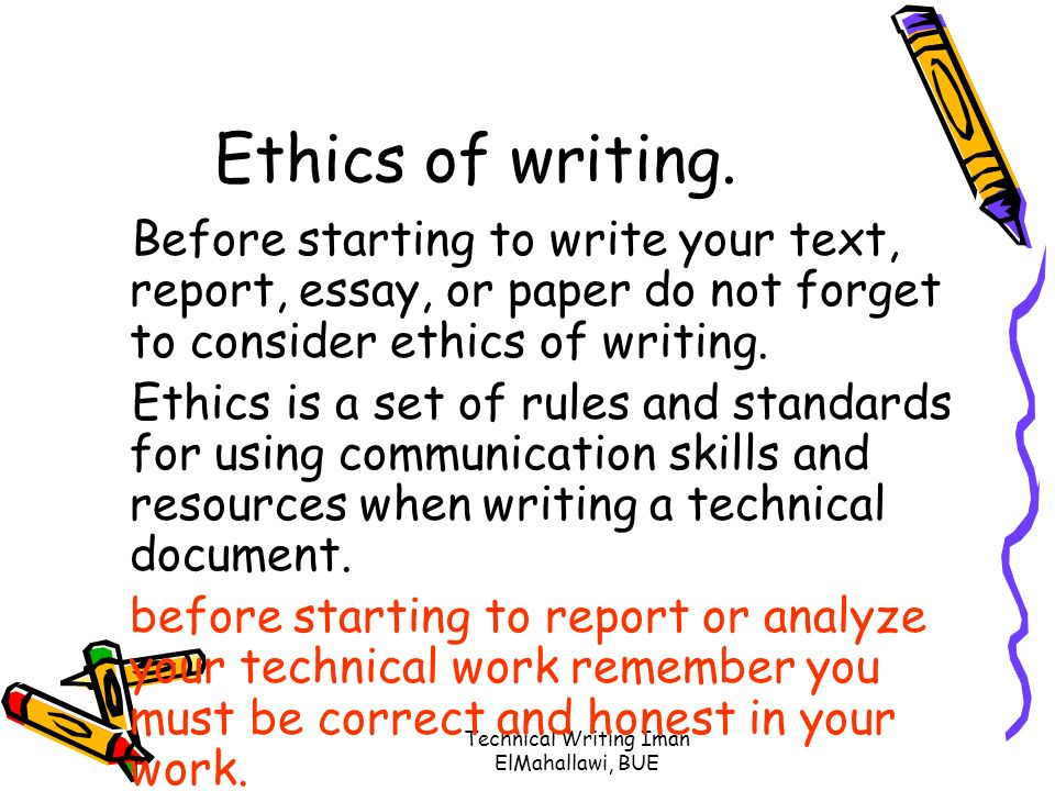 introduction to technical writing ppt  technical writing iman elmahallawi bue