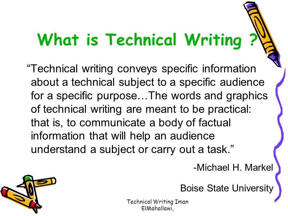Technical writing service know your audience