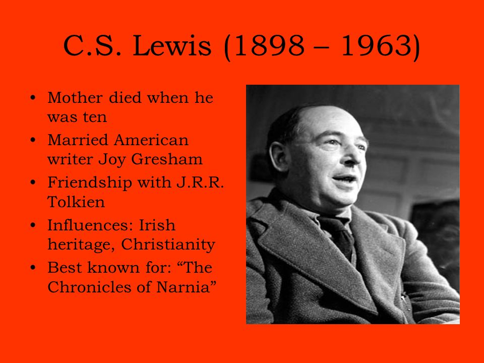 a biography of c s lewis Mere christianity, c s lewis's eloquent and winsome defense of the christian faith, originated as a series of bbc radio talks broadcast during the dark days of world war two here is the story of the extraordinary life and afterlife of this influential and much-beloved book george marsden .