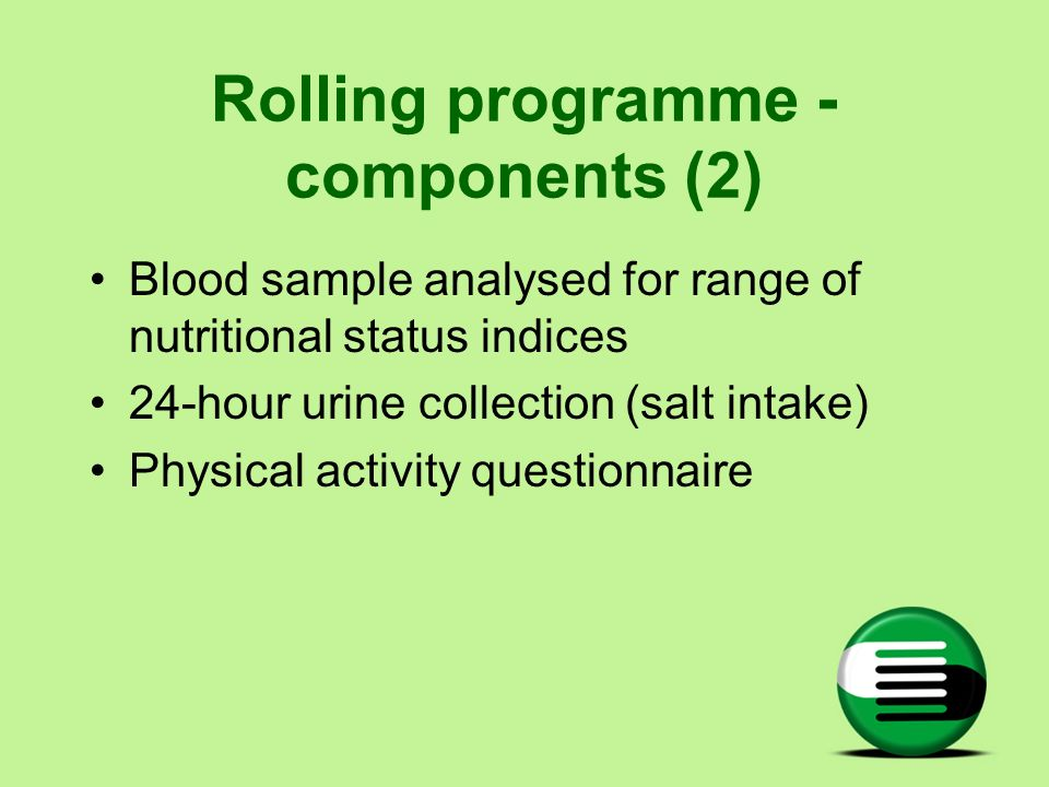 Rolling programme - components (2)