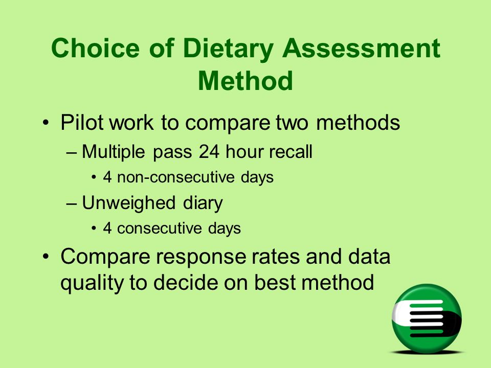 Choice of Dietary Assessment Method