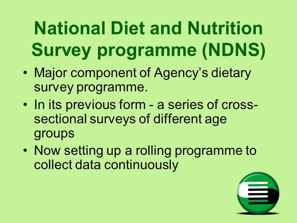 National Diet and Nutrition Survey programme (NDNS)