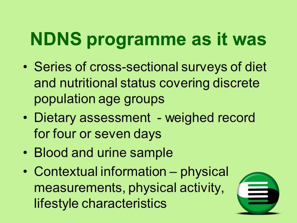NDNS programme as it was