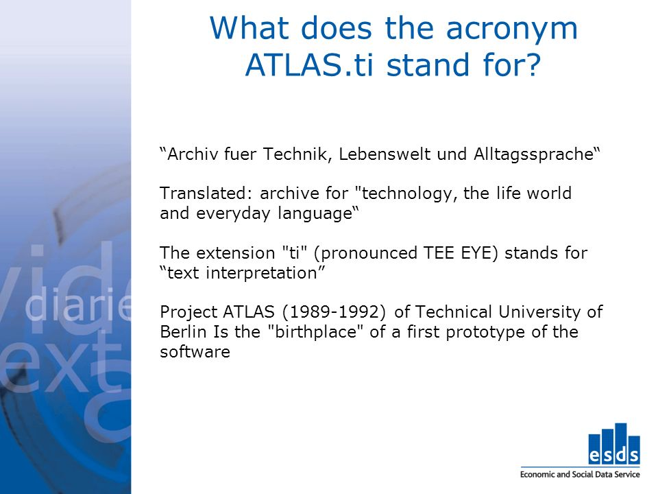 What does the acronym ATLAS.ti stand for