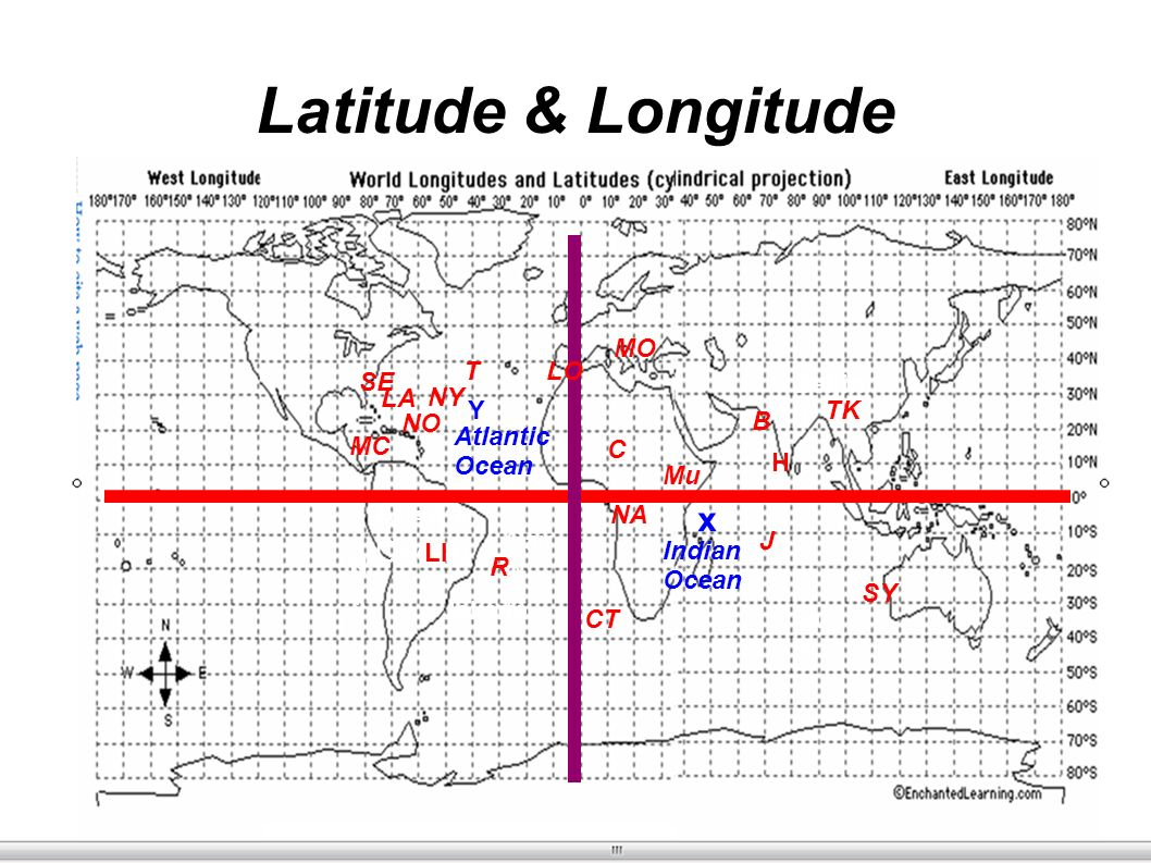 Earth science world map ppt video online download 6 latitude gumiabroncs Image collections