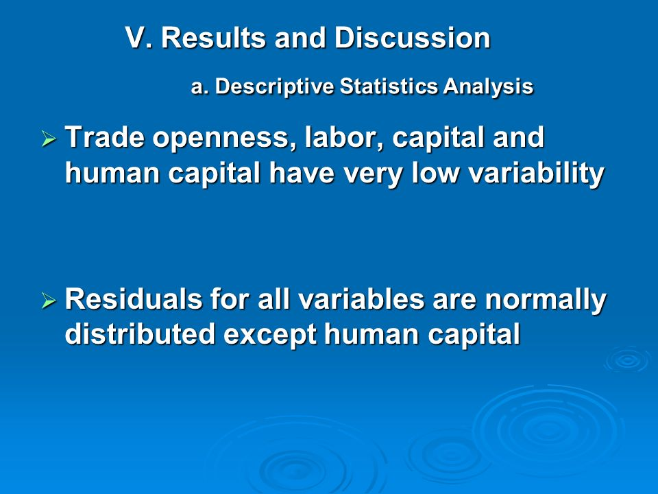 V. Results and Discussion a. Descriptive Statistics Analysis