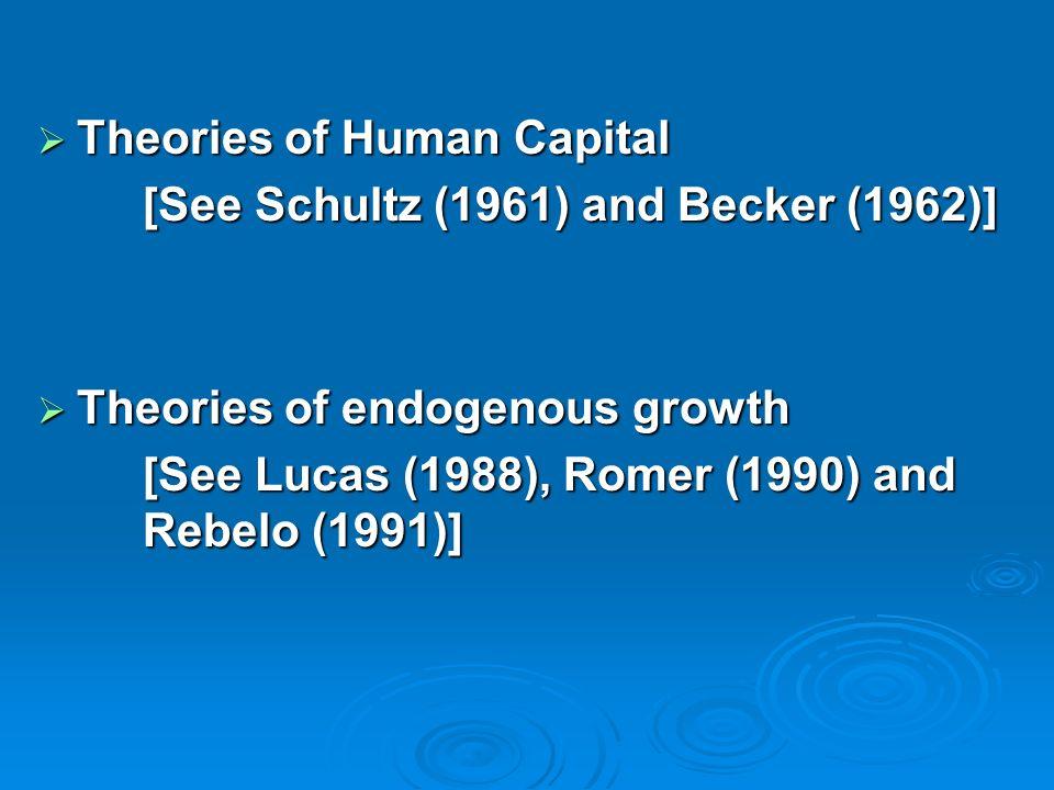 Theories of Human Capital