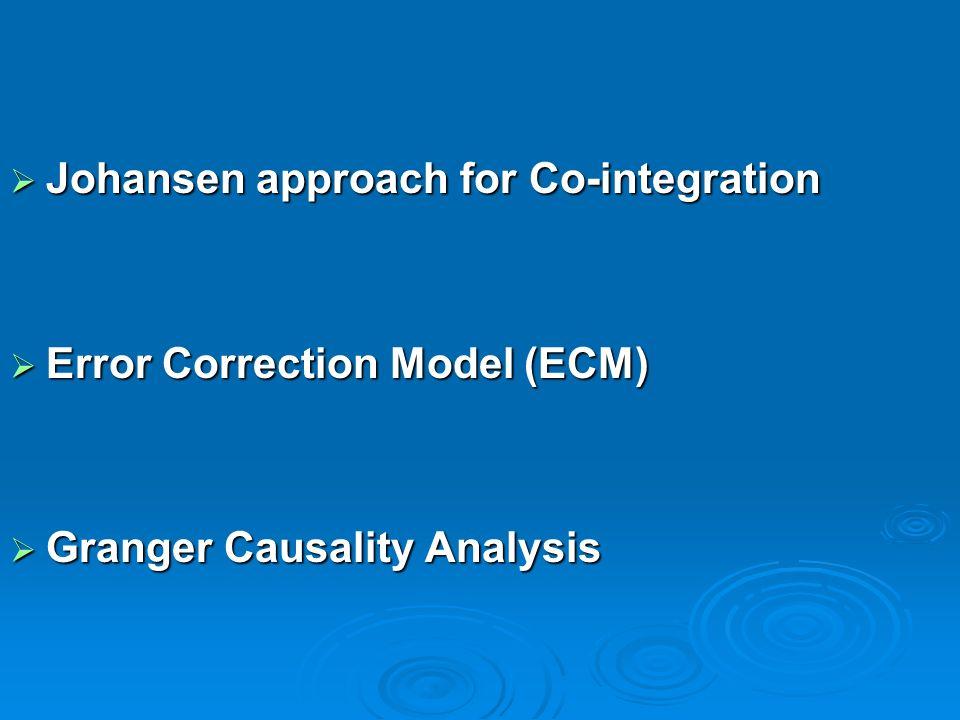 Johansen approach for Co-integration