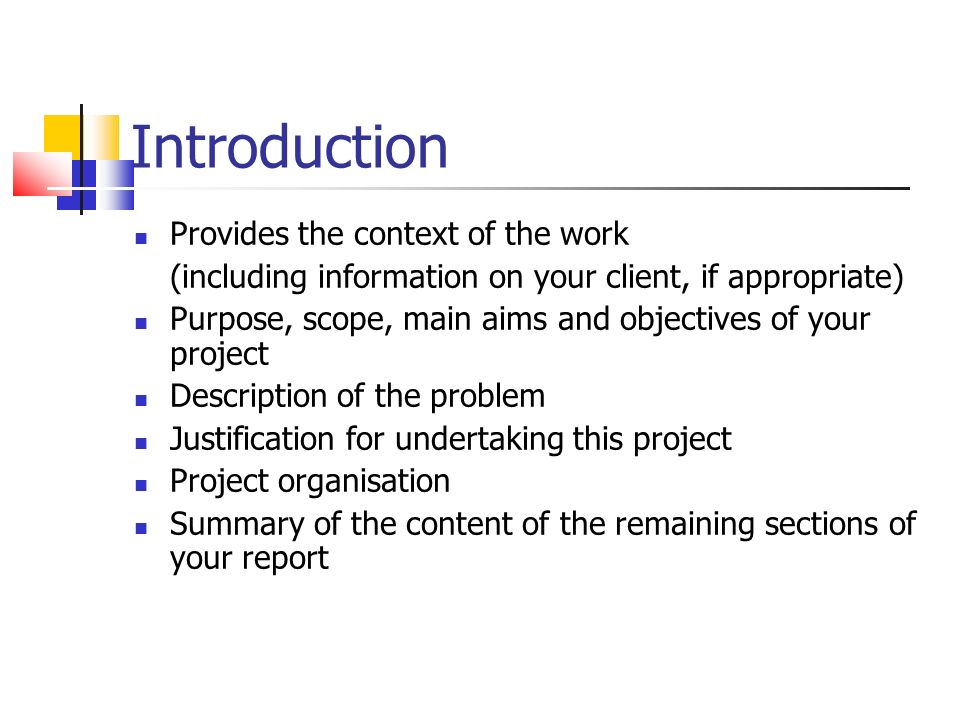 introduction of an report essay