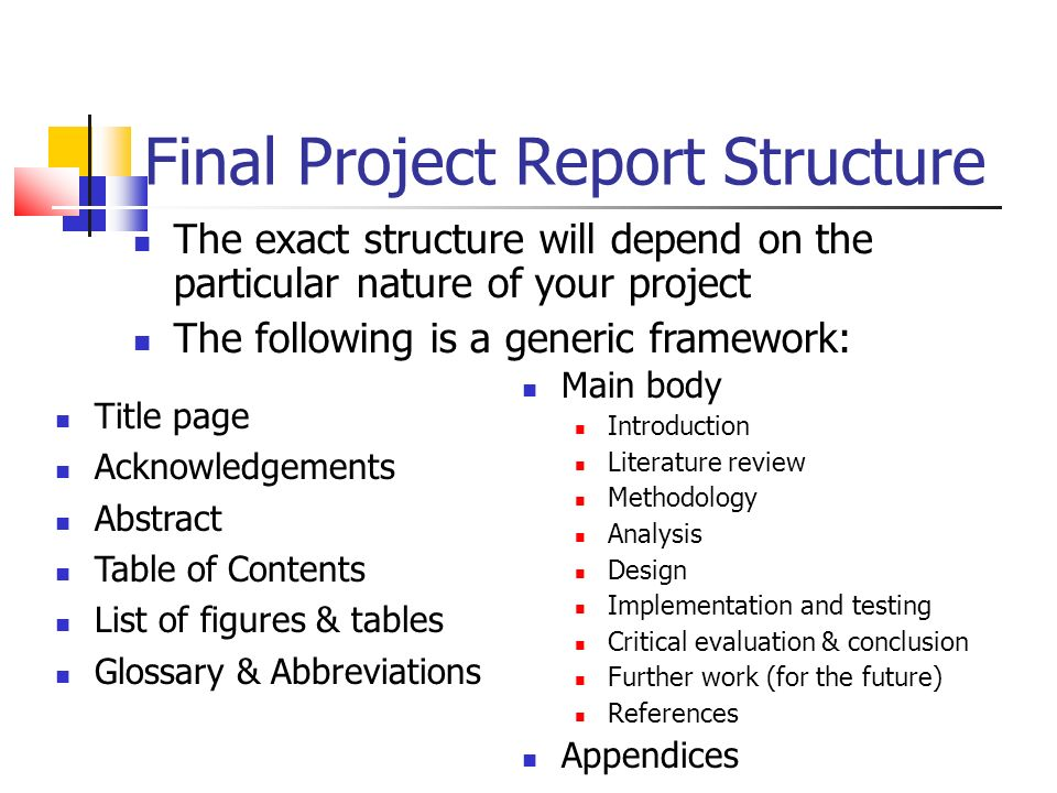 What is dissertation structure