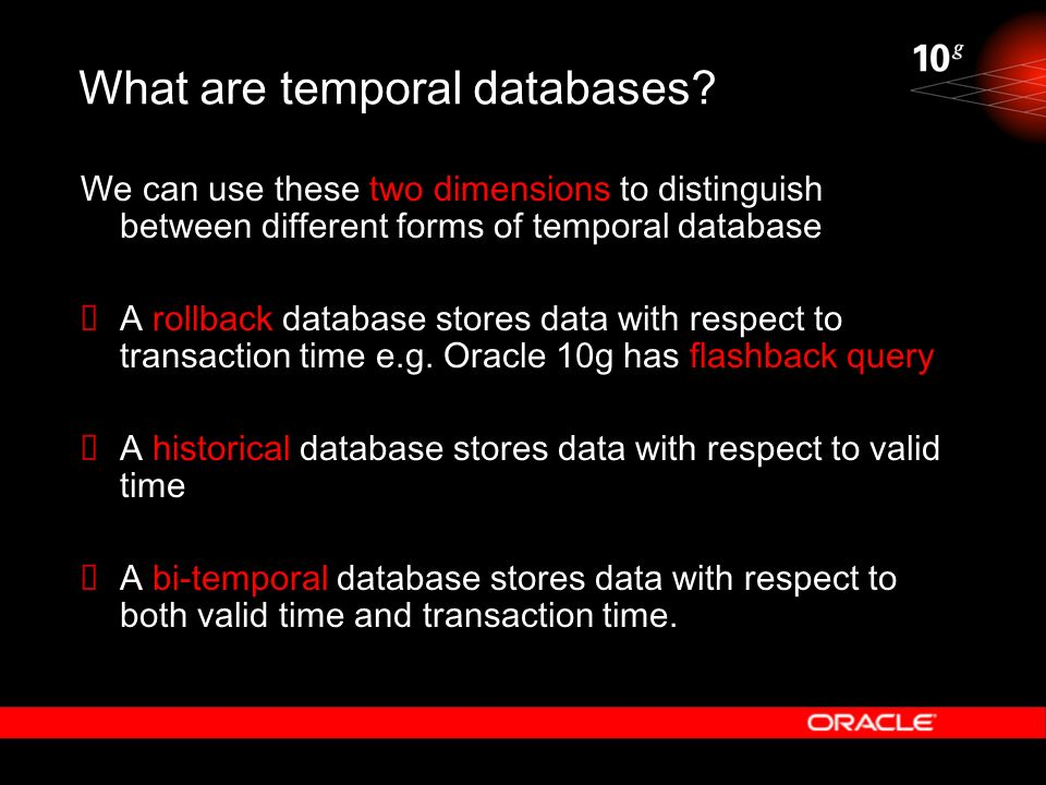 What are temporal databases
