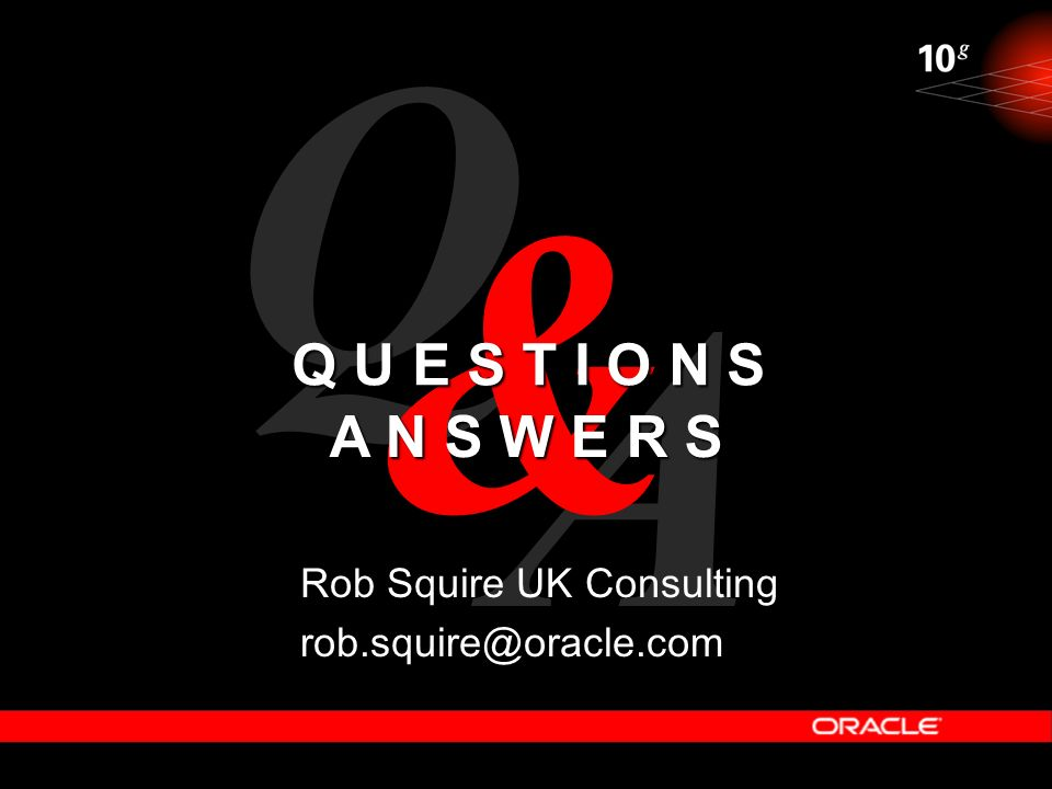 Q & A Q U E S T I O N S A N S W E R S Rob Squire UK Consulting