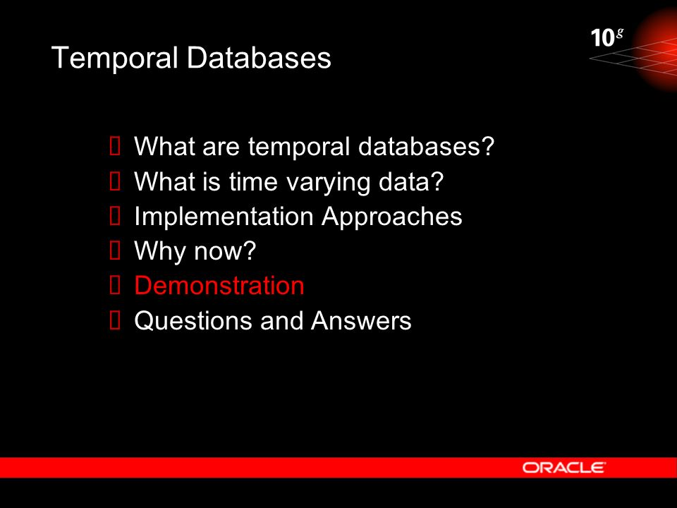 Temporal Databases What are temporal databases