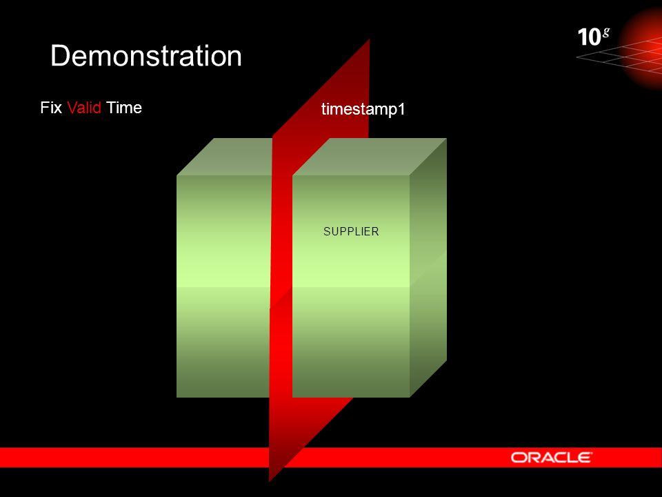 Demonstration Fix Valid Time timestamp1 SUPPLIER