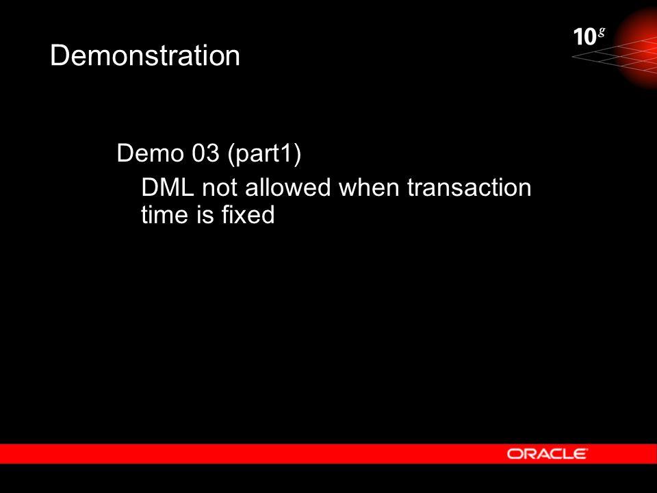 Demonstration Demo 03 (part1)