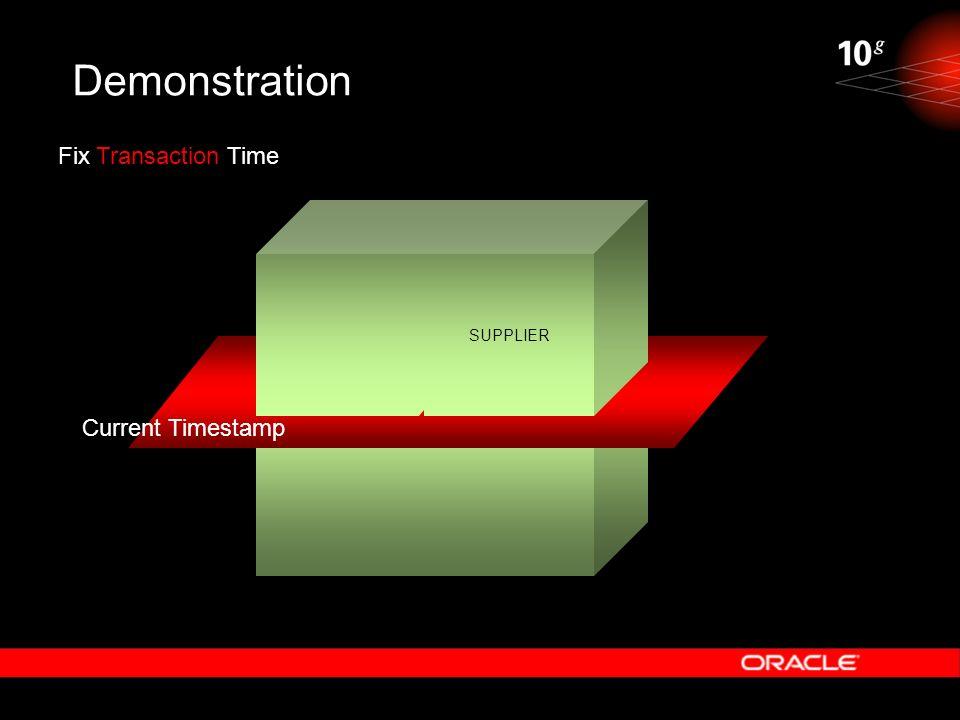 Demonstration Fix Transaction Time SUPPLIER Current Timestamp