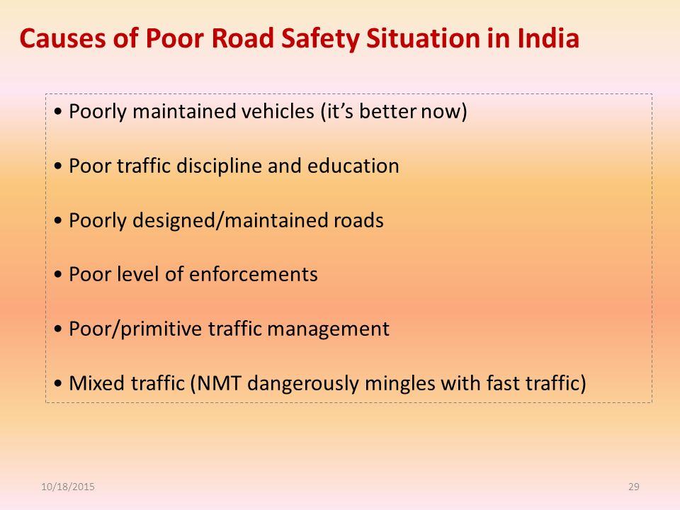 what are the affects of road Cause & effect essay: traffic problems of a big city one of the main reasons why there's more congestion is due to more cars on the road.