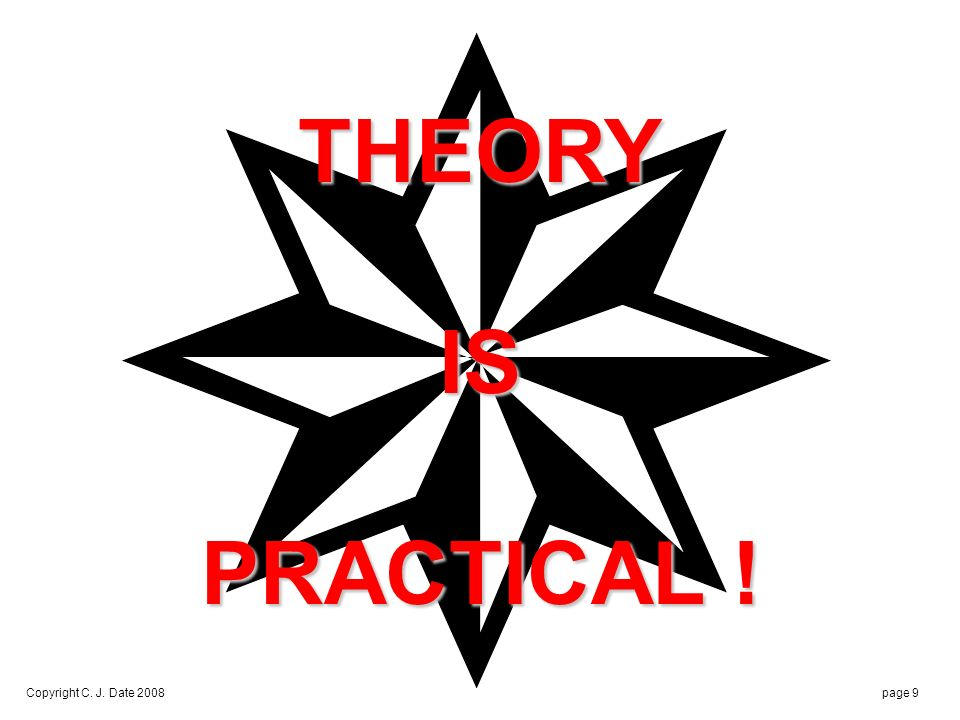 The gap between theory and practice