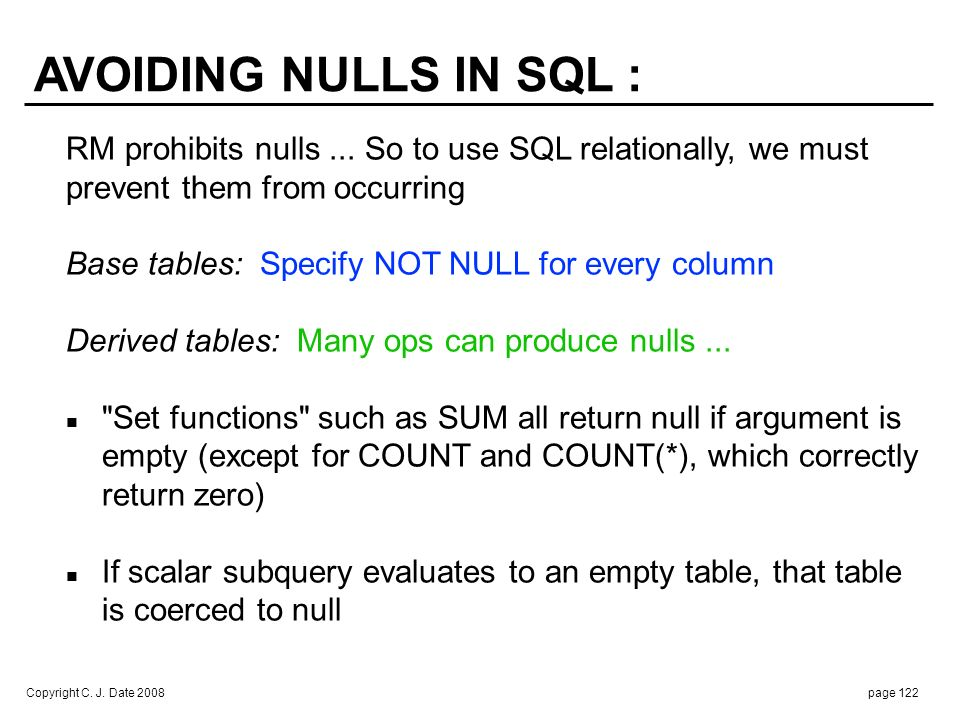 . If row subquery evaluates to an empty table, that table is