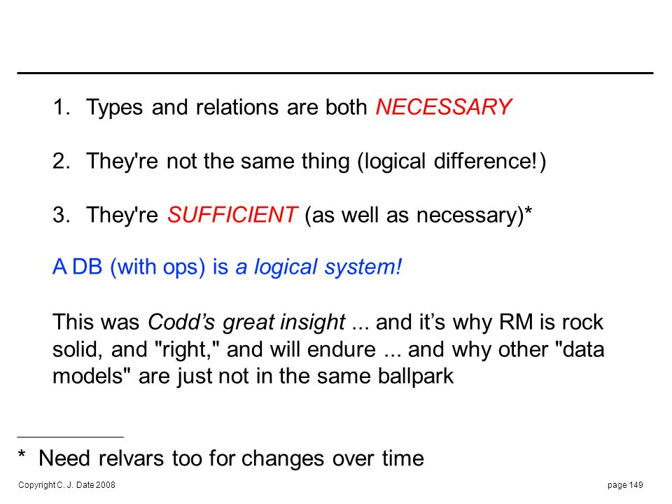 A NICE ANALOGY : TYPES are to RELATIONS as NOUNS are to SENTENCES