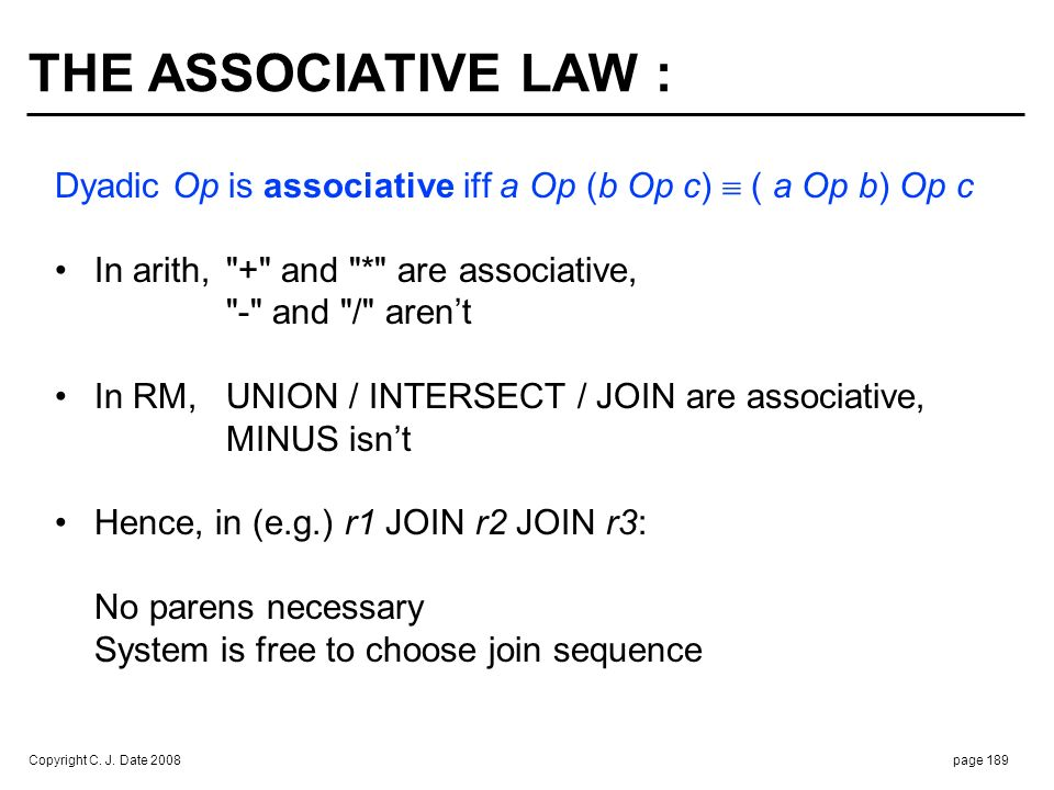 THE IDEMPOTENCE AND ABSORPTION LAWS :