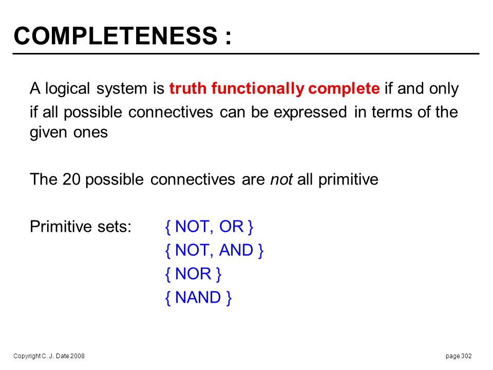 TRUTH TABLES REVISITED :