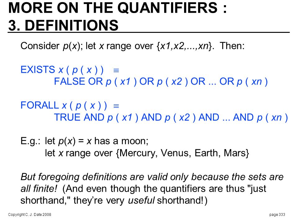 MORE ON THE QUANTIFIERS : 4. ADDITIONAL KINDS