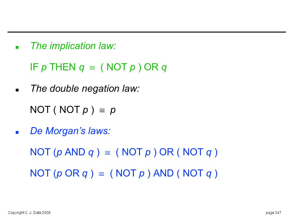 The quantification law:
