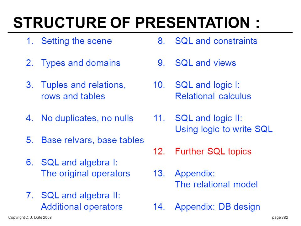 FURTHER SQL TOPICS : Implementation defined vs. Subqueries