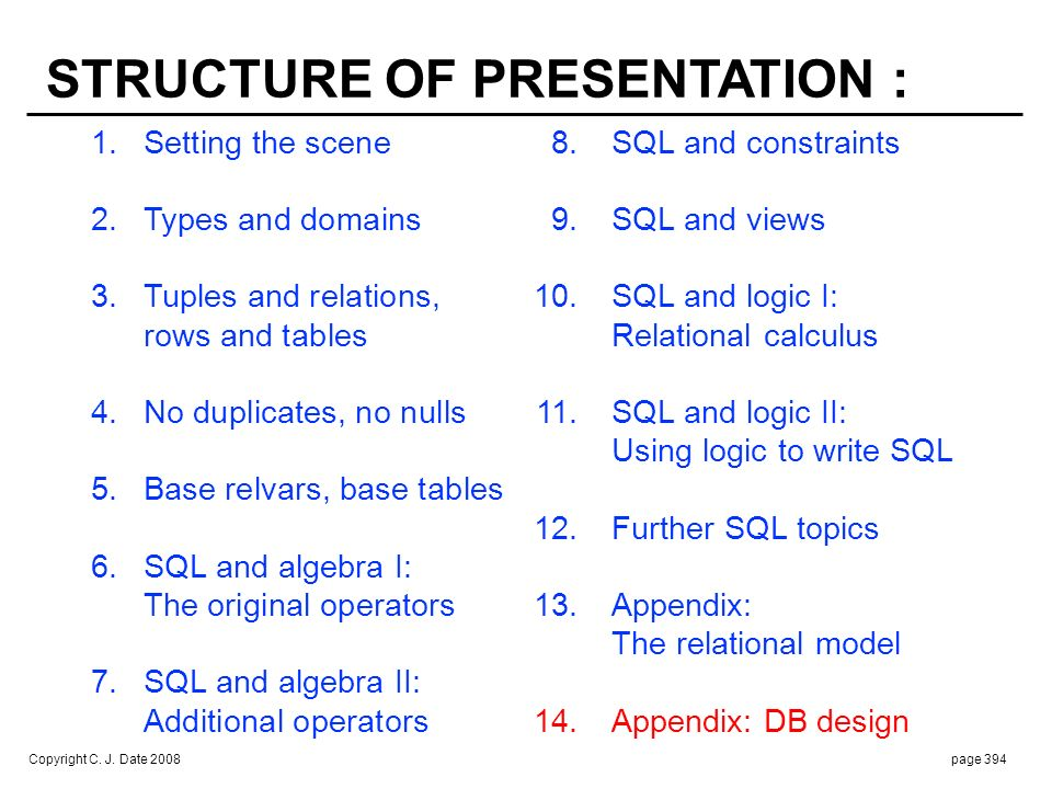 SOME REMARKS ON DATABASE DESIGN :