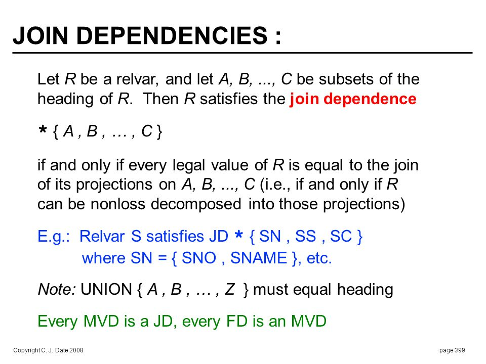 EVERY FD IS A JD (example) :