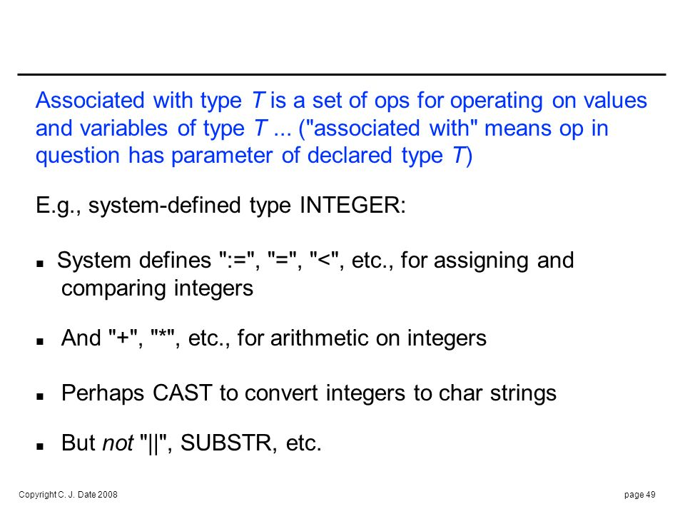E.g., user-defined type SNO: