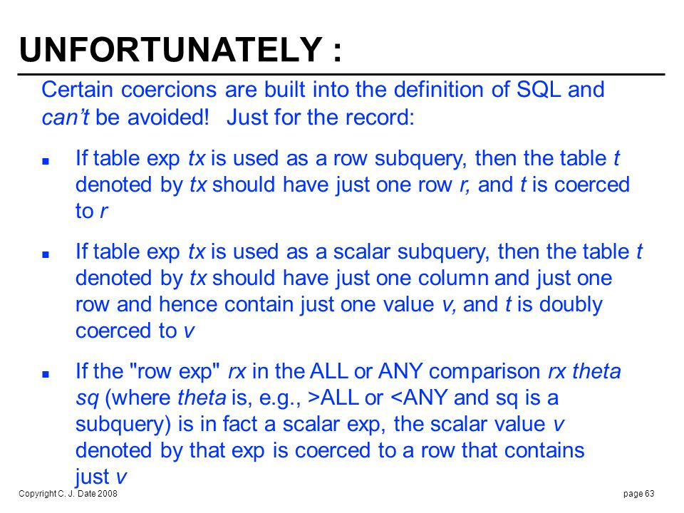 SQL COLLATIONS : Type checking and coercion for character strings are more. complex than I've been pretending ...