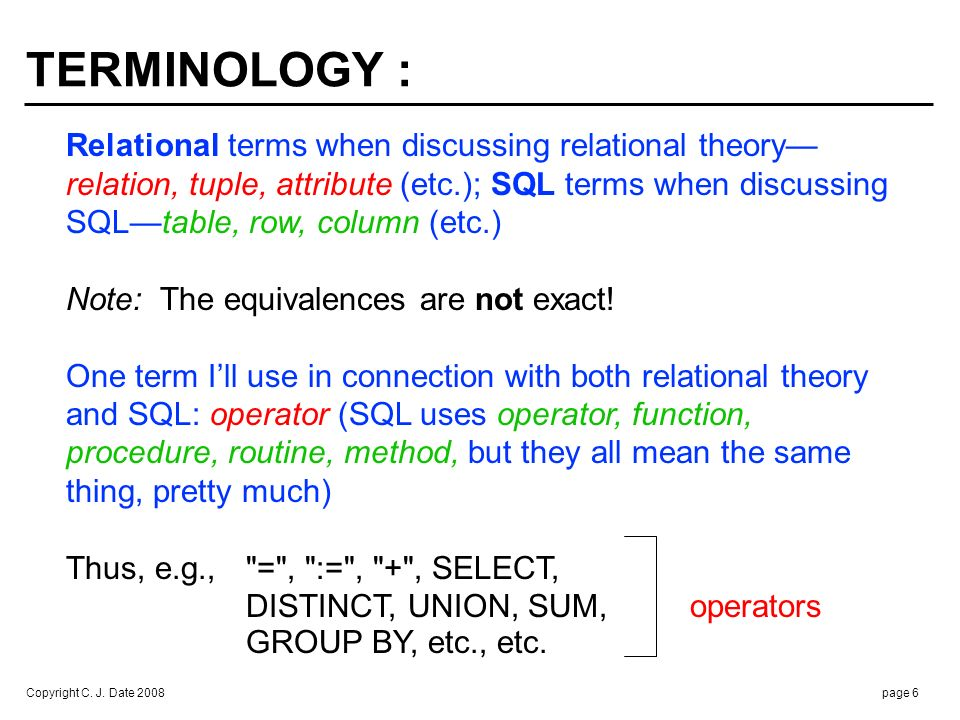 WHY DO YOU NEED TO KNOW RELATIONAL THEORY