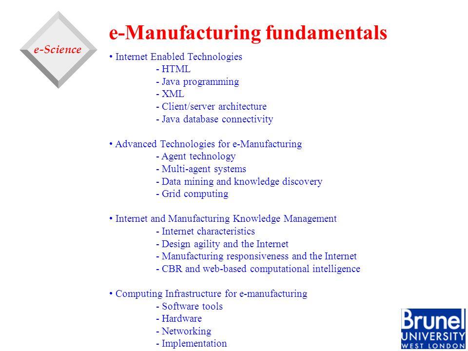 e-Manufacturing fundamentals