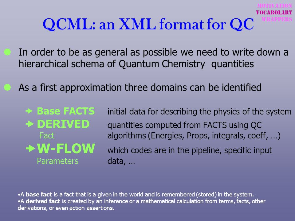 QCML: an XML format for QC
