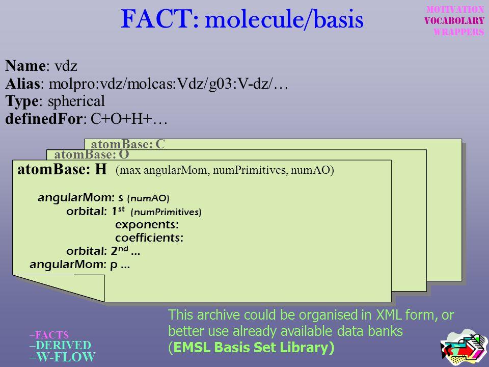 FACT: molecule/basis Name: vdz Alias: molpro:vdz/molcas:Vdz/g03:V-dz/…