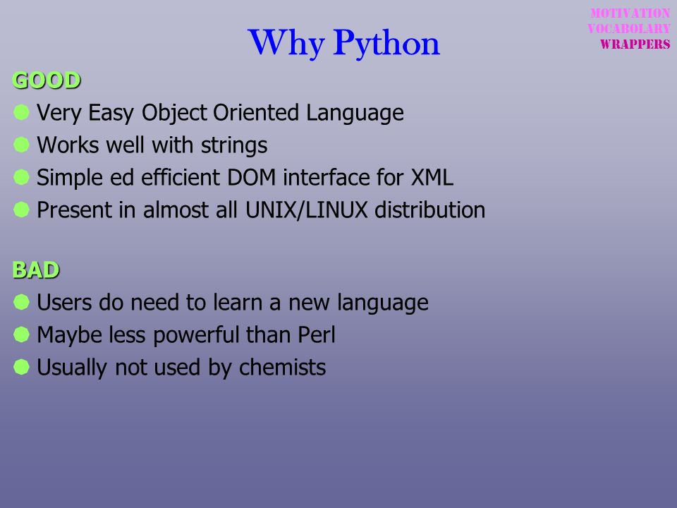 Why Python GOOD Very Easy Object Oriented Language