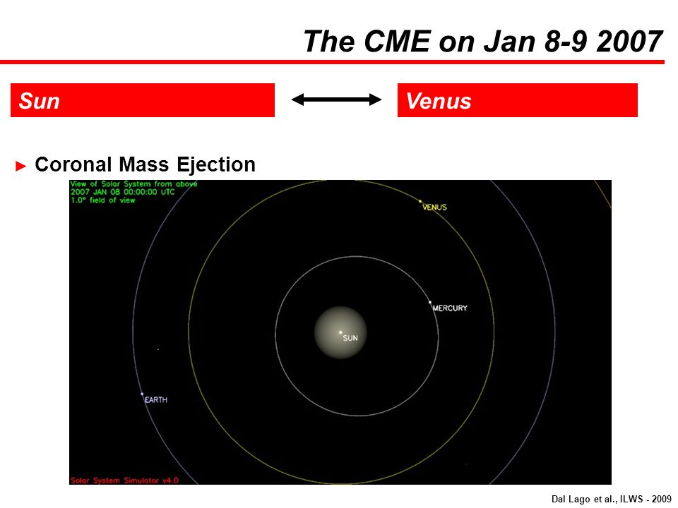 The CME on Jan 8-9 2007 Sun Venus Coronal Mass Ejection